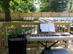 Live piano for Ceremonies - outdoor